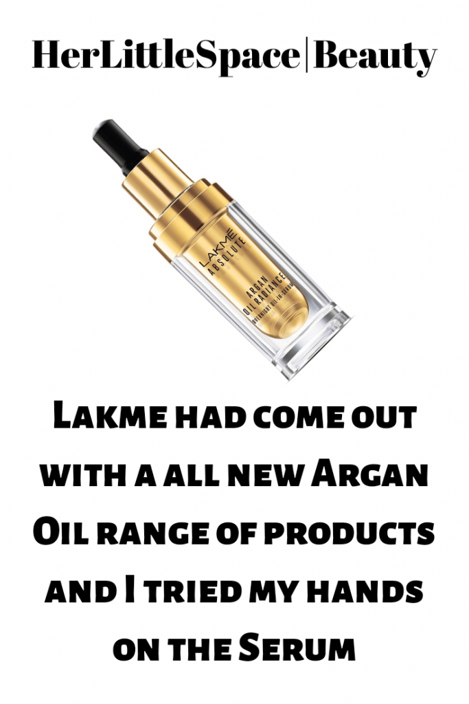 Lakme Absolute Argan Oil Radiance Overnight Oil-in-Serum Review - her little space